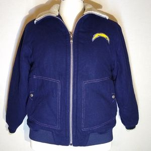 NFL Authentic Sideline Chargers Wool Bomber Jacket